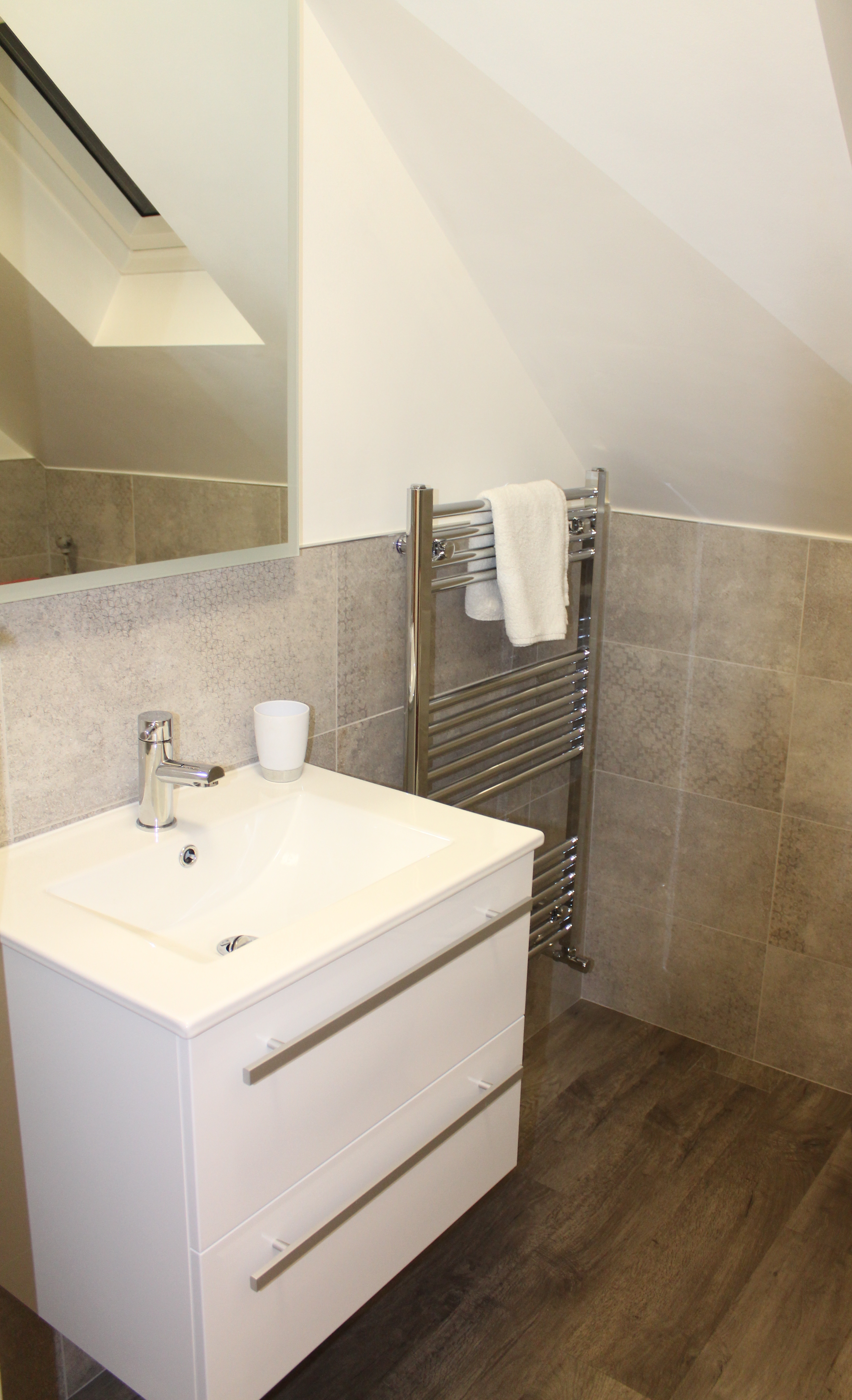 Lodge 1 Sink and towel rail